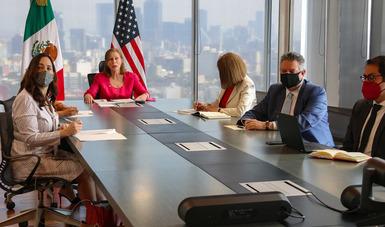 Videomensaje inicial de la secretaria de Economía en su reunión virtual con el secretario de Estado de Estados Unidos