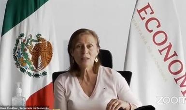 Mensaje de la secretaria de Economía, Tatiana Clouthier Carrillo, en la presentación virtual de la plataforma Comercia MX