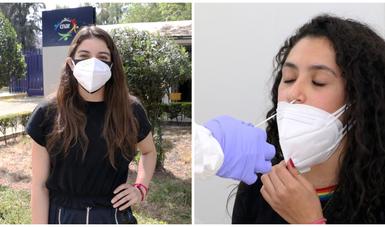 Alejandra Orozco (izq.) y Gabriela Agúndez (der.) en su ingreso al CNAR.