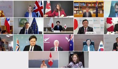 La secretaria Tatiana Clouthier participó en reunión virtual ministerial del Grupo de Ottawa