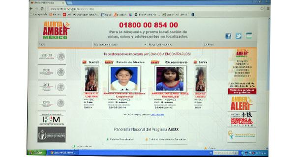 Se crea sitio oficial de Alerta AMBER México