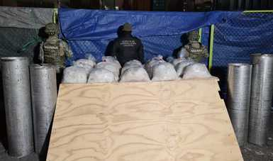 Como Autoridad Marítima Nacional y en funciones de Protección Marítima y Portuaria y la Administración General de Aduanas decomisaron un cargamento ilícito de 24 bolsas de metanfetamina