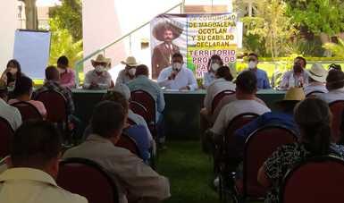 Dialoga Semarnat con integrantes del Frente No a la Minería por un Futuro de Todas y Todos, en la ciudad de Oaxaca