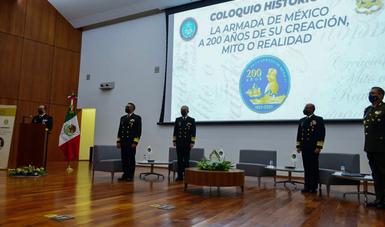"""La Secretaría de Marina organiza Coloquio Histórico """"La Armada  de México a 200 años de su creación, mito o realidad"""""""