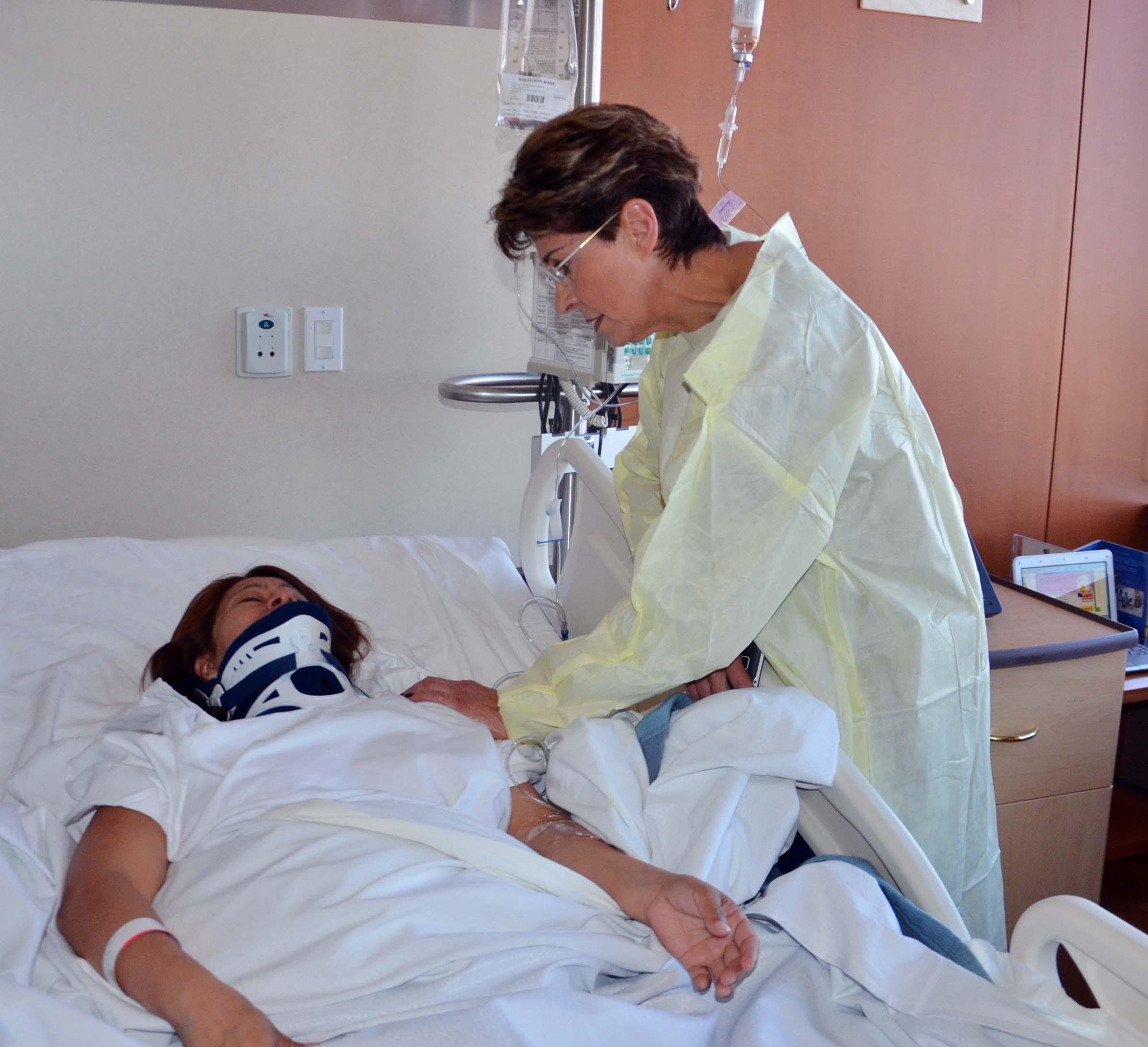 La Secretaria de Salud, Mercedes Juan, supervisó el estado de salud de los pacientes internados en diferentes hospitales