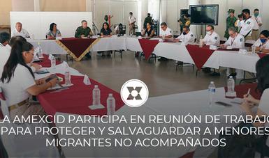 La AMEXCID participa en reunión de trabajo para proteger y salvaguardar a menores migrantes no acompañados