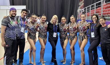 Selección nacional de gimnasia rítmica. CONADE