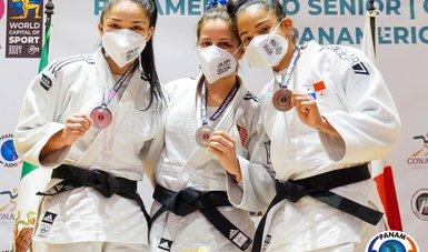 Premiación de judocas mexicanos en el Abierto Panamericano de la disciplina