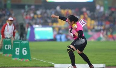 Rebeca Valenzuela Álvarez, consiguió los primeros lugares en las pruebas de lanzamiento de jabalina y bala