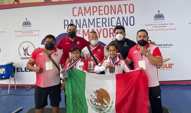Parte del equipo mexicano que se encuentra en República Dominicana