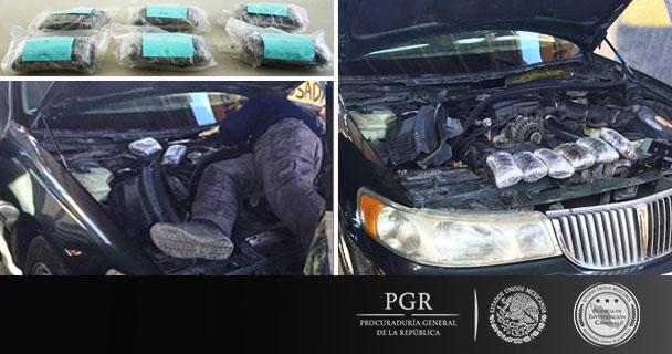 Inicia PGR indagatoria contra dos personas que se encontraban en posesión de más de seis kilos de heroína