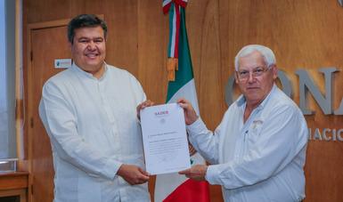 Rinde protesta Octavio Almada Palafox como nuevo titular de la Comisión Nacional de Acuacultura y Pesca.