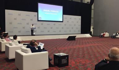 """El secretario de Turismo del Gobierno de México, Miguel Torruco Marqués, participó en el """"Diálogo de Líderes Globales"""", en el marco de las actividades de la vigésima edición de la Cumbre Global del Consejo Mundial de Viajes y Turismo (WTTC)"""