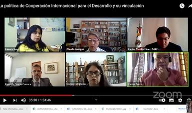 Segunda sesion del Ciclo de Conversatorios Cooperación Internacional para el Desarrollo