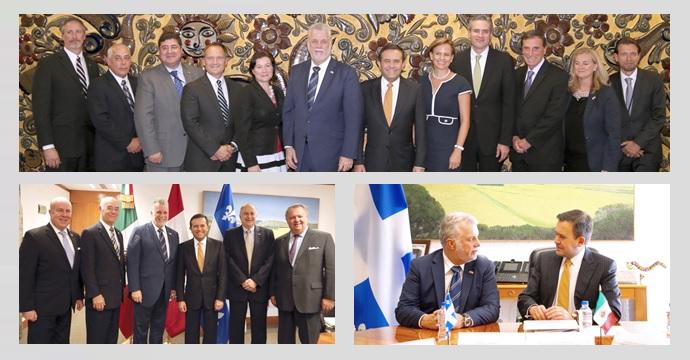 El Secretario de Economía se reúne con el Primer Ministro de Quebec