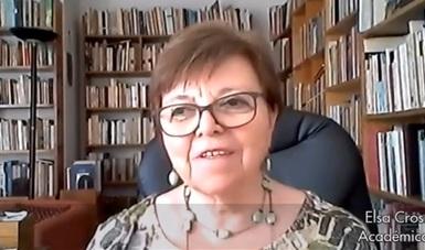 """En el marco de """"Contigo en la distancia"""" de la Secretaría de Cultura, la poeta Elsa Cross leyó el texto Alfonso Reyes y las mujeres homéricas."""