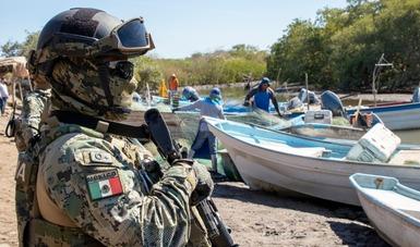 Instala la Secretaría de Marina campamento base en el sistema lagunar Huizache-Caimanero y se coordina con la Conapesca en inspección y vigilancia.