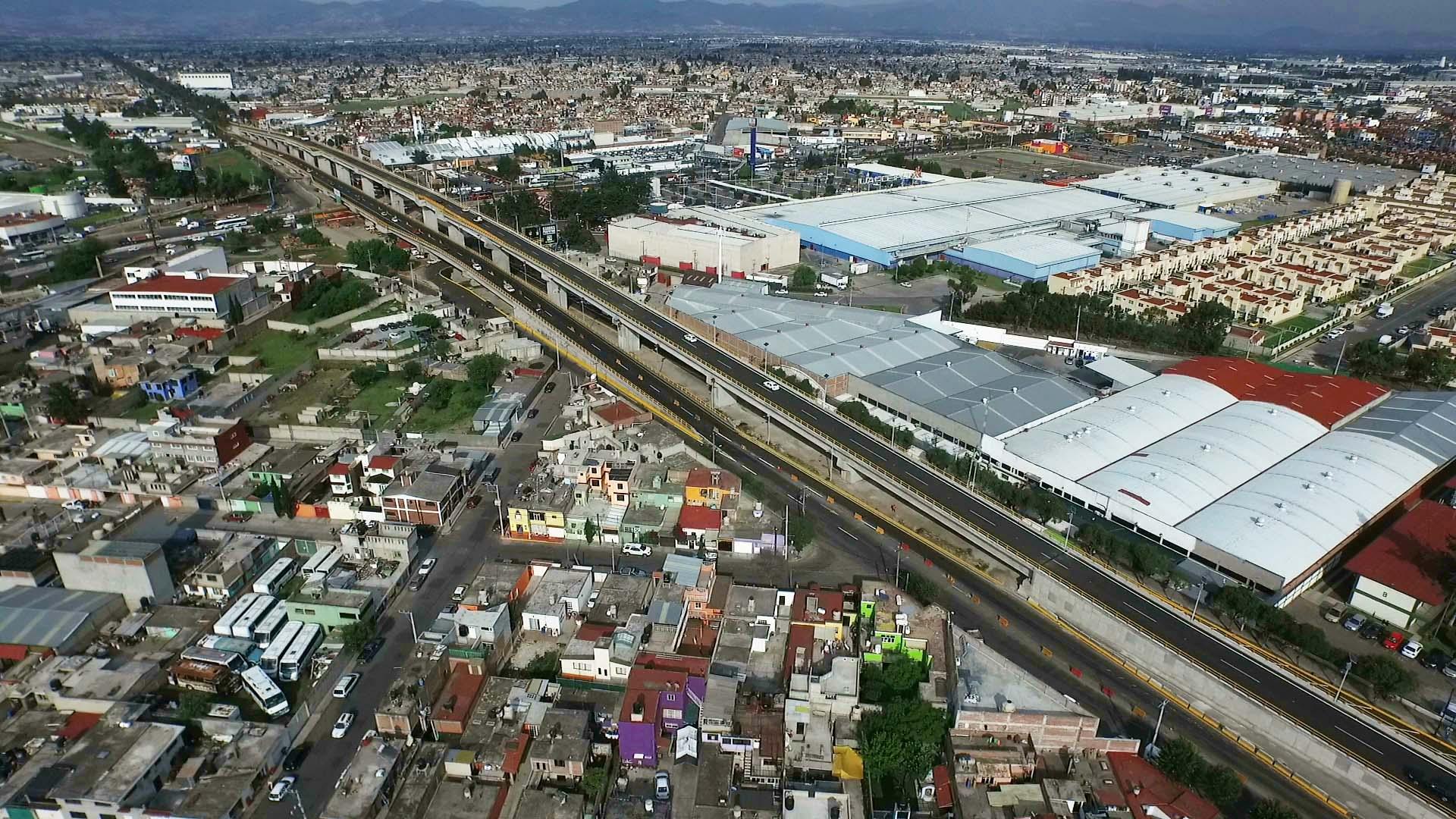 Puesta en marcha de los ejes 55 y 60 del distribuidor vial Alfredo del Mazo y José López Portillo