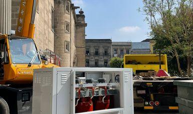 Los trabajos forman parte del proyecto para la rehabilitación de la red eléctrica y del sistema de pararrayos del conjunto catedralicio.