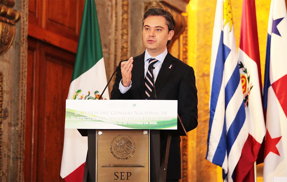 Mensaje del secretario de Educación Pública, Aurelio Nuño Mayer, durante la 5ª. Sesión Ordinaria del Consejo Nacional de Participación Social en la Educación (Conapase)