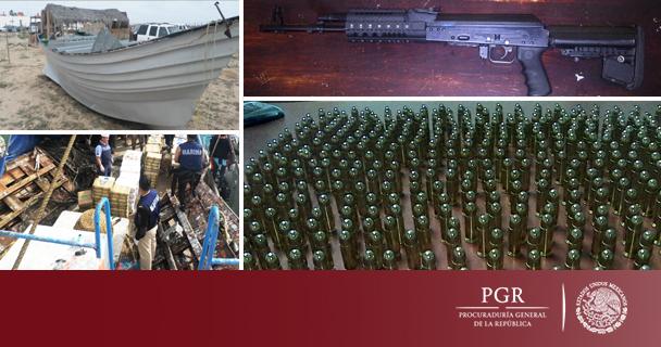 Consigna PGR a diez detenidos por SEMAR con casi cinco toneladas de marihuana y armas
