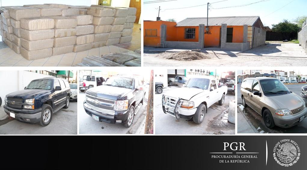 Consigna PGR a una persona a quien le aseguraron más de dos toneladas de marihuana en Tamaulipas