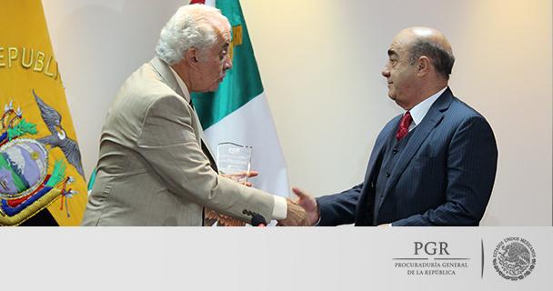 Reconoce Fiscalía de Ecuador trabajo de la Procuraduría General de la República en investigación
