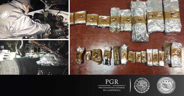 Obtiene PGR formal prisión contra dos personas que transportaban más de tres kilos de heroína