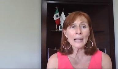Mensaje inicial de la secretaria de Economía, Tatiana Clouthier Carrillo, al dar a conocer los resultados de su visita virtual a Canadá