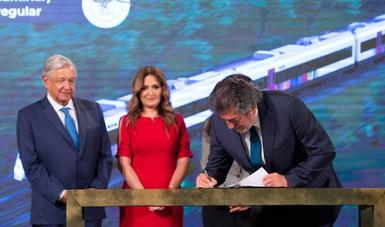 El Tren Maya será hecho en México.