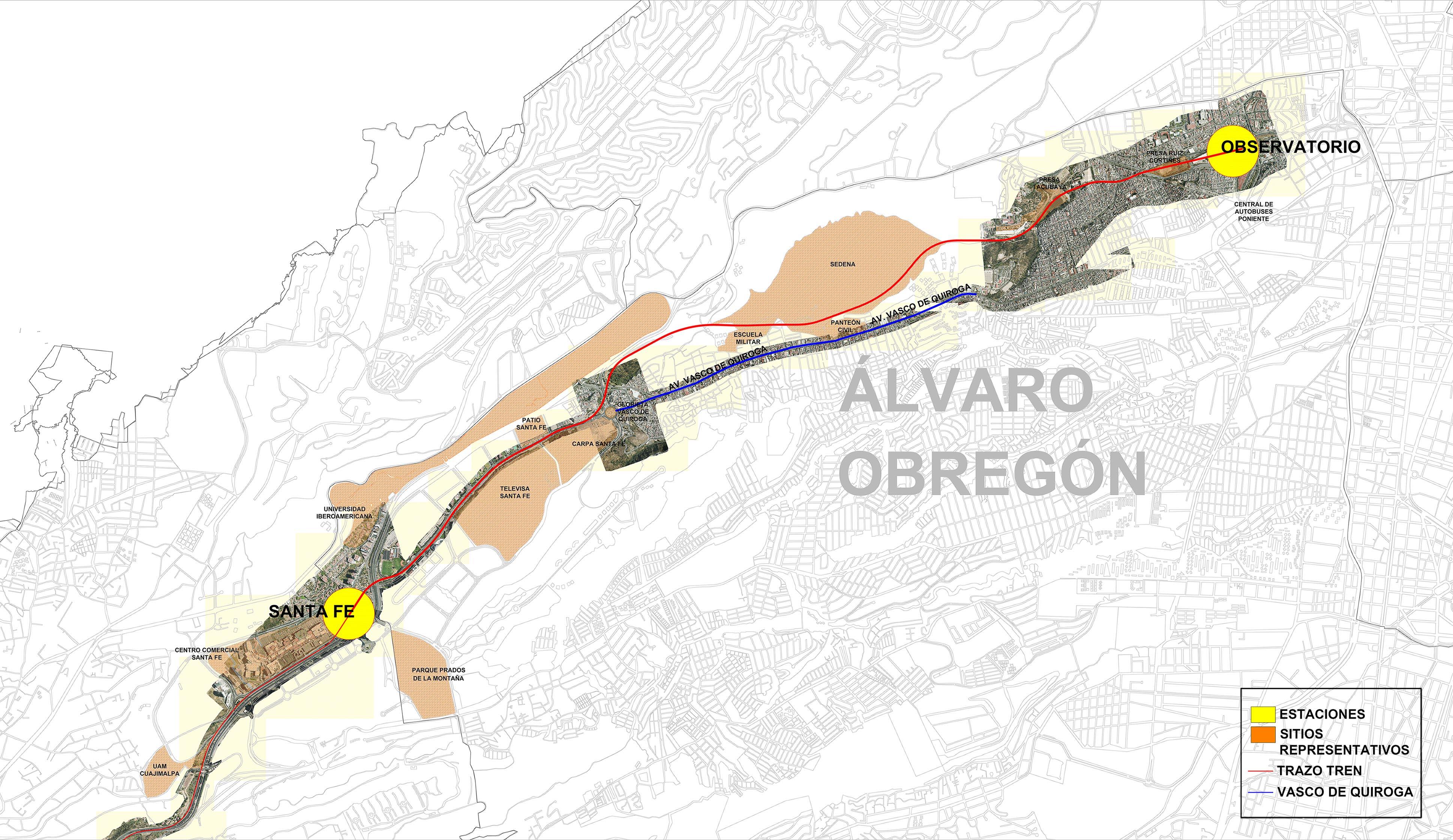 El Tren México-Toluca actualiza su ruta; correrá por terrenos federales