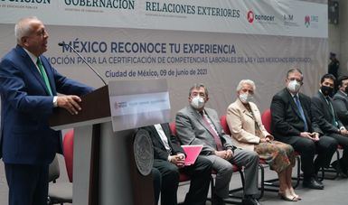 Inicia programa de Promoción para Certificación de Competencias Laborales de Migrantes Repatriados 'México reconoce tu experiencia'
