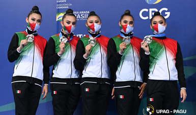 selección nacional de gimnasia rítmica cerró su participación en el Campeonato Panamericano