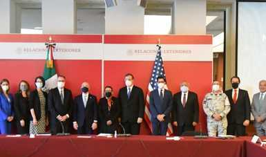 Mexico's Foreign and Security Secretaries meet with the US Homeland Security Secretary