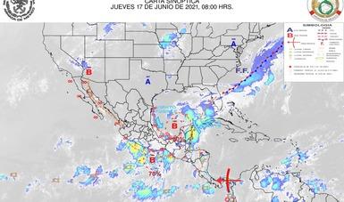 Información meteorológica marítima en apoyo a las labores de la estrategia del Gobierno de México para la contención del fenómeno atípico del sargazo.