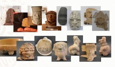 German citizens voluntarily return 34 archaeological pieces to Mexico