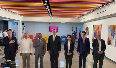 Canciller Marcelo Ebrard encabeza inauguración de nueva sede del Consulado de México en Houston