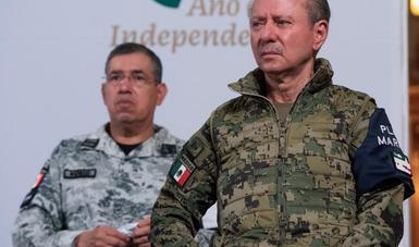 El Almirante José Rafael Ojeda Durán, rindió esta mañana el informe mensual de los resultados de las operaciones navales.