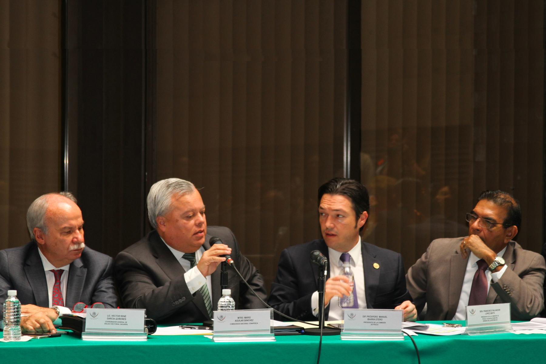 Participó el titular de la CONAPESCA, Mario Aguilar Sánchez, en la instalación de la Comisión de Pesca de la LXIII Legislatura de la Cámara de Diputados, presidida por el legislador Próspero Manuel Ibarra Otero.