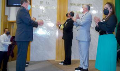 """Poder Legislativo del Estado de Nayarit inscribe en su sede la leyenda """"Bicentenario de la Marina Armada de México 1821-2021"""""""