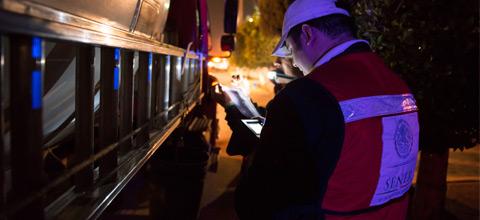 La Secretaría de Energía inmovilizó 5 pipas, en un operativo de verificación a vehículos que transportan Gas L.P. realizado en la zona oriente del DF.