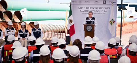 El Secretario de Energía supervisó el arranque de obras del gasoducto Norte-Noroeste, en el tramo de Sonora.