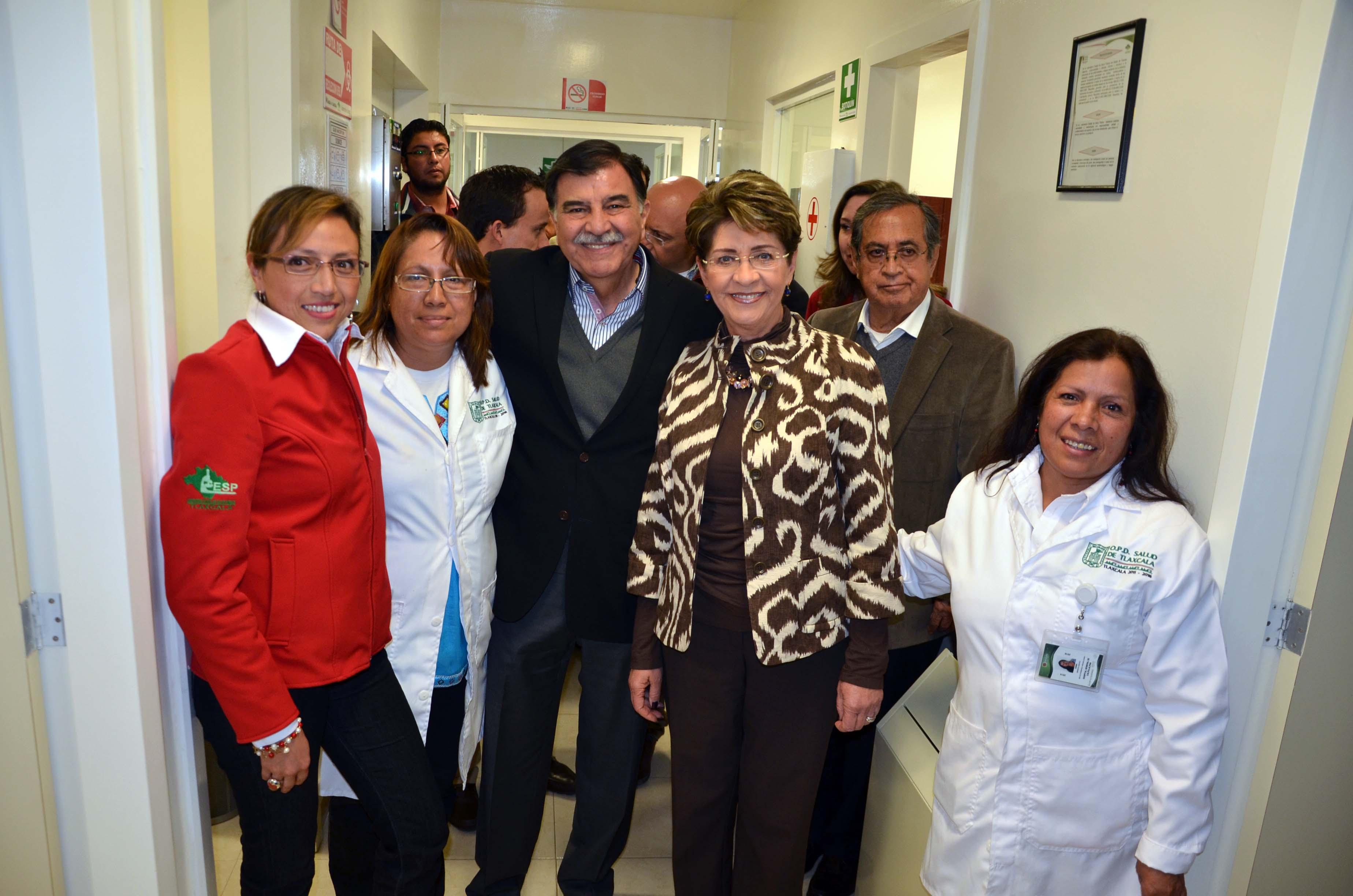 La Secretaria de Salud, Mercedes Juan, realizó una gira de trabajo, por el estado de Tlaxcala