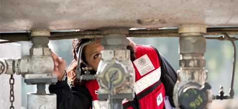 La SENER inmovilizó 9 pipas de Gas L.P. en un operativo de verificación realizado en Texcoco, Estado de México.