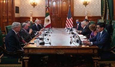 Presidente López Obrador recibe a delegación bipartidista de senadores de Estados Unidos