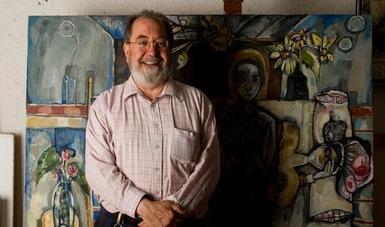Gerardo Cantú es reconocido como pintor, dibujante, pero también como muralista.
