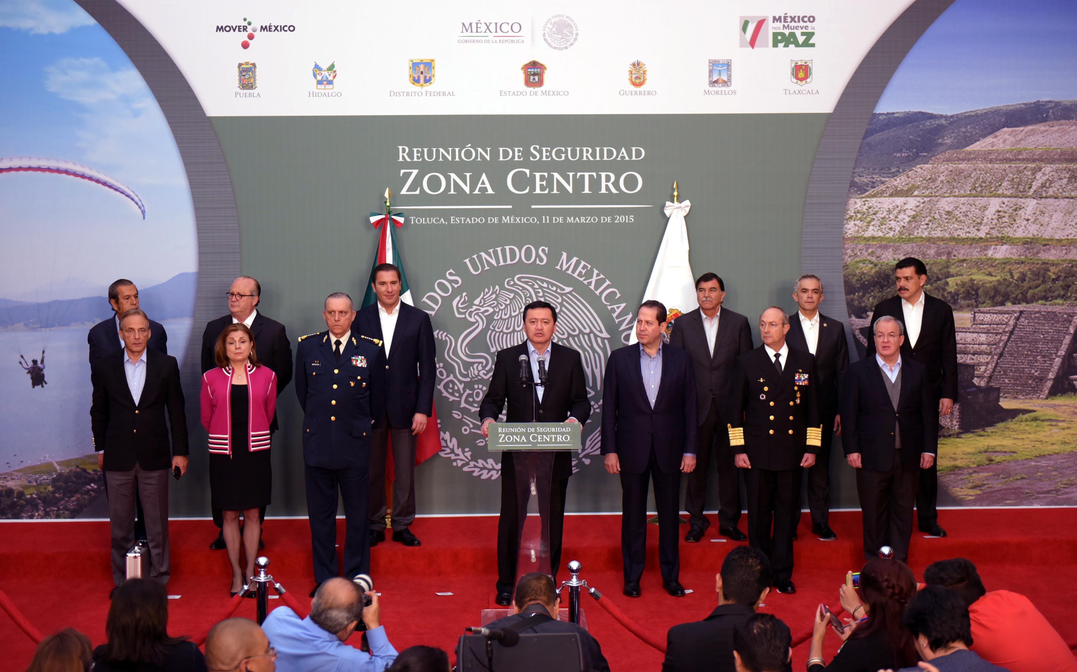El Secretario de Gobernación, Miguel Ángel Osorio Chong, en la Reunión de Seguridad Zona Centro realizada en Puerto Vallarta, Jalisco
