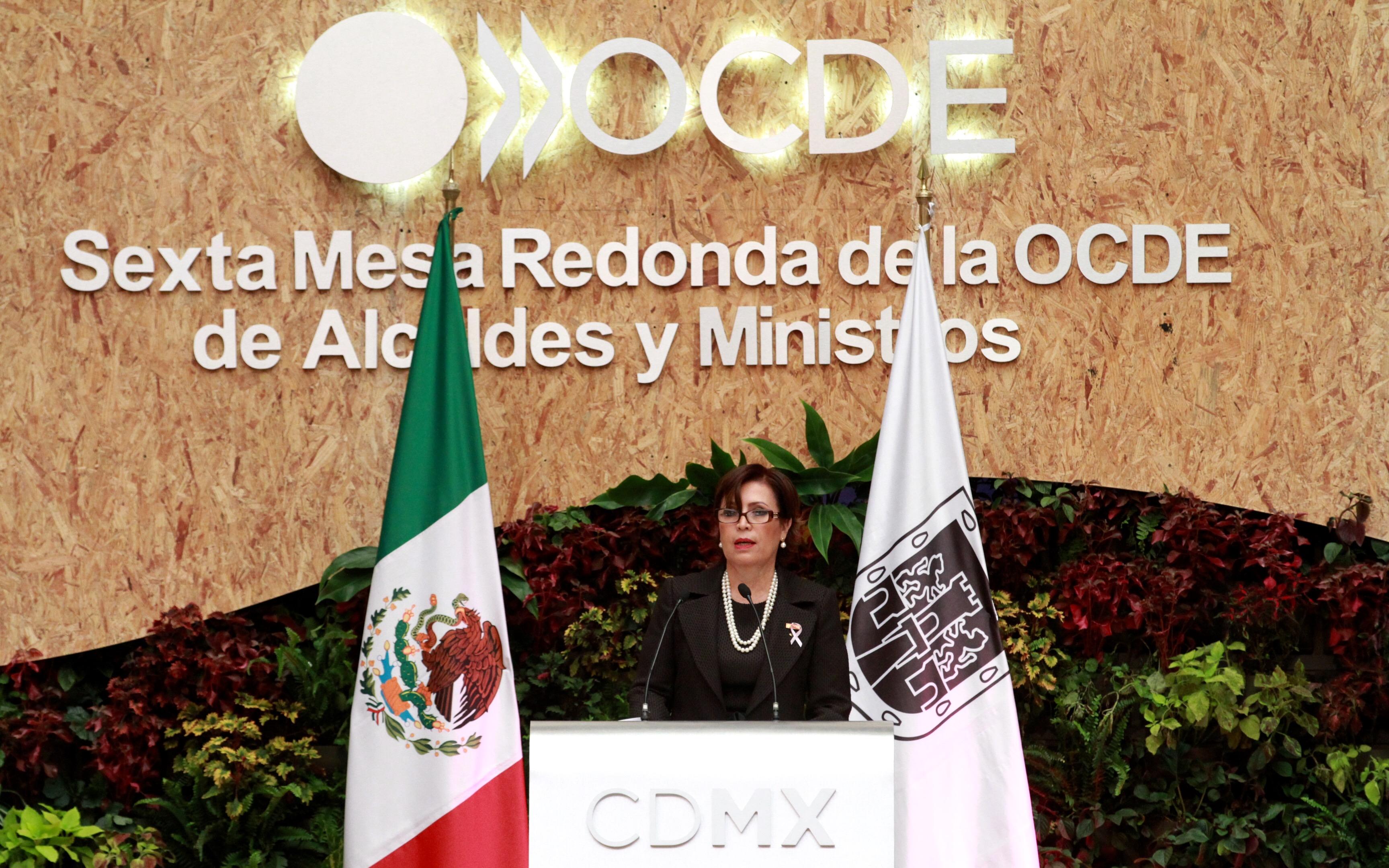La titular de la Secretaría de Desarrollo Agrario, Territorial y Urbano, participó la Sexta Mesa Redonda de Alcaldes y Ministros, convocada por la Organización para la Cooperación y el Desarrollo Económico (OCDE).