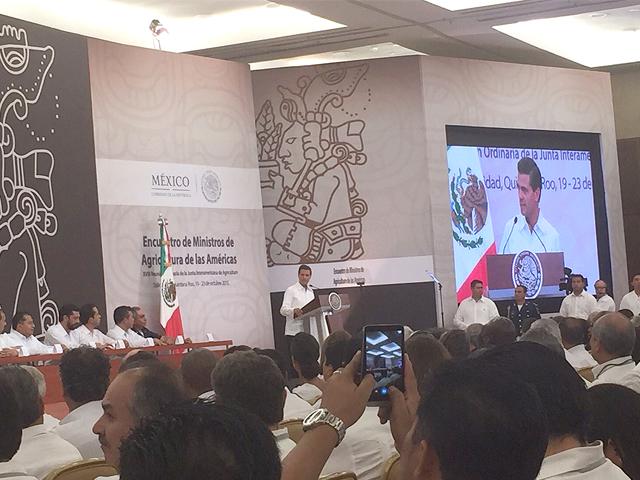 El Presidente Enrique Peña Nieto inauguró Encuentro de Ministros de las Américas 2015.