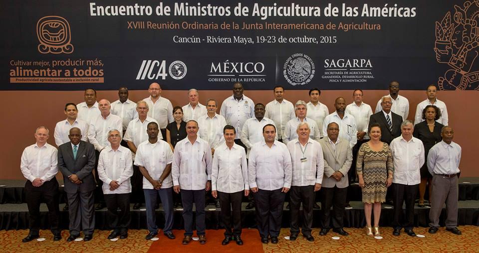 Inauguración del Encuentro de Ministros de Agricultura de las Américas 2015 y 18ª Reunión Ordinaria del IICA, perteneciente a la OEA.